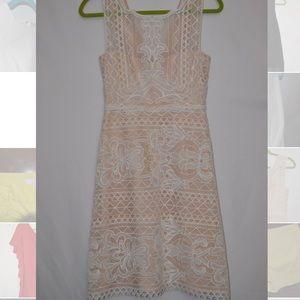 BCBG White and Creme Lace Dress